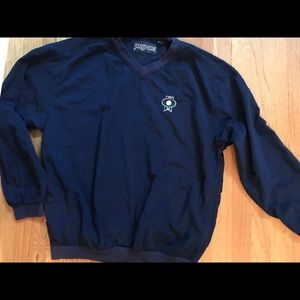 Men Jansport Navy Blue Gold Jacket Pull Over M